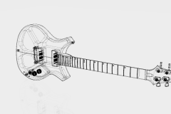 Custom guitar 001 v39_wireframe_hidden_edges